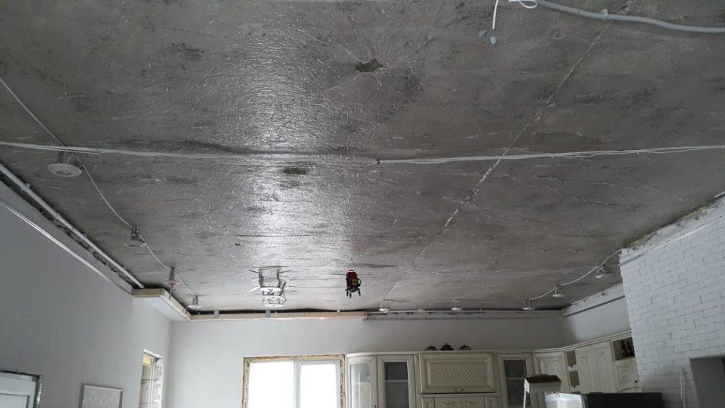 Подготовка под натяжной потолок