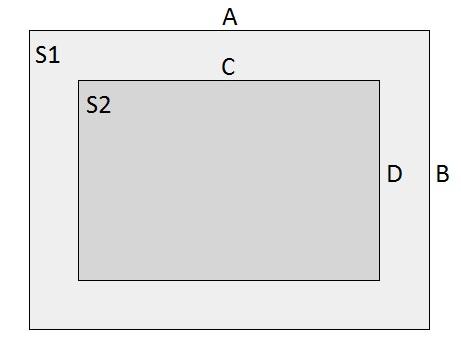 Два уровня Прямоугольник
